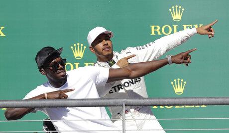 Usain Bolt, Lewis Hamilton