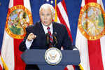 Vice President Mike Pence gives a campaign speech during a