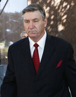 FILE - Jamie Spears, father of singer Britney Spears, leaves the Stanley Mosk Courthouse on Oct. 24, 2012, in Los Angeles. When Britney Spears speaks to a judge at her own request on Wednesday, June. 23, 2021, she'll do it 13 years into a court-enforced conservatorship that has exercised vast control of her life and money by her father. Spears has said the conservatorship saved her from collapse and exploitation. But she has sought more control over how it operates, and says she wants her father out. (AP Photo/Nick Ut, File)