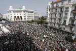 Algerian protesters gather during an anti-government demonstration in the centre of the capital Algiers, Algeria, Friday, June 7, 2019. (AP Photo/Toufik Doudou)