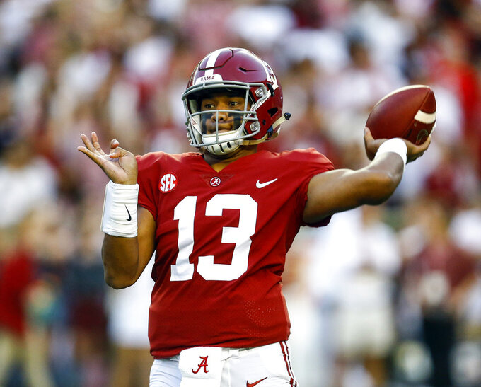 Tagovailoa one of 5 Alabama midseason AP All-Americans