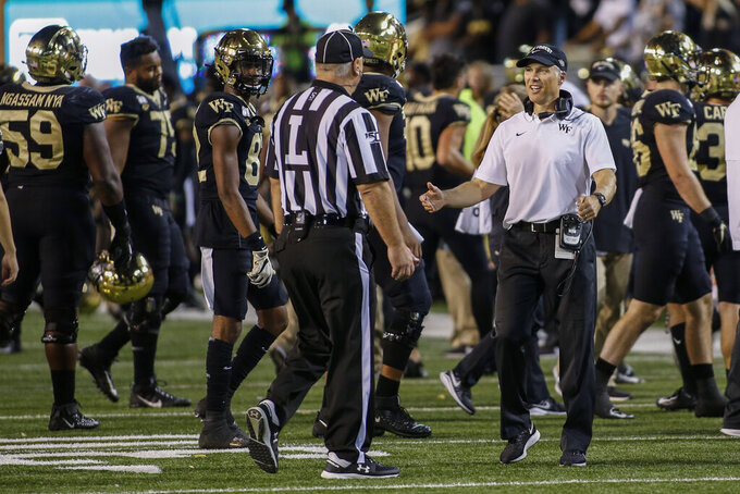Wake Forest linebacker Justin Strnad done for season
