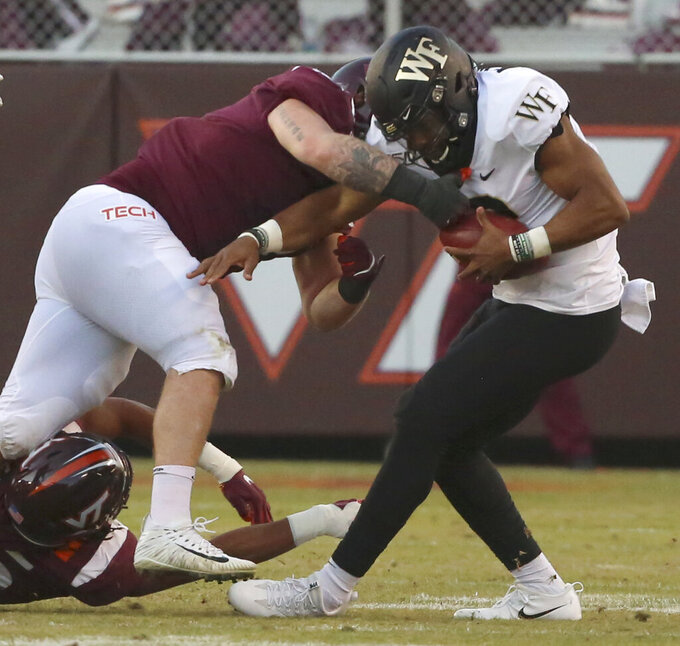 Hendon Hooker, Hokies beat No. 22 Wake Forest 36-17