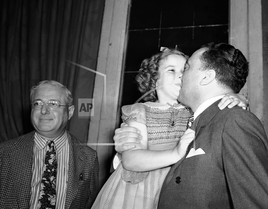 Watchf Associated Press Domestic News Entertainment Dist. of Col United States APHS216280 Shirley Temple and J Edgar Hoover 1938
