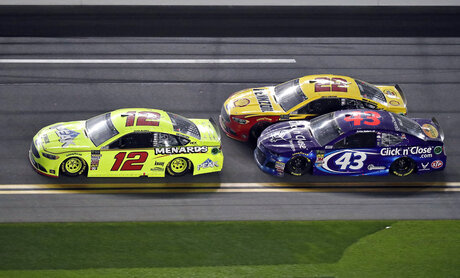 Ryan Blaney, Darrell Wallace Jr., Joey Logano