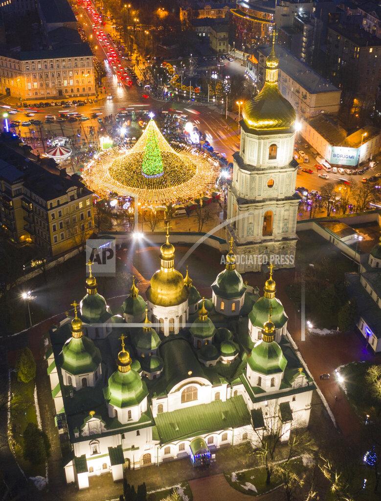 Virus Outbreak Ukraine Christmas