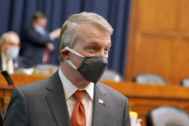 Richard Bright, former director of the Biomedical Advanced Research and Development Authority, arrives for a House Energy and Commerce Subcommittee on Health hearing to discuss protecting scientific integrity in response to the coronavirus outbreak, Thursday, May 14, 2020 on Capitol Hill in Washington. (Greg Nash/Pool via AP)