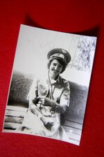 In this photo taken in June 1986, Tatyana Rybalchenko, who worked as a nurse during the Soviet campaign in Afghanistan between 1986 and 1988, poses for a photo in a Soviet style officer's cap in Kabul, Afghanistan. Rybalchenko, who worked as a nurse at a military hospital in Gardez in 1986, was stunned by the many casualties, men missing limbs or riddled with shrapnel. (Courtesy of Tatyana Rybalchenko via AP)