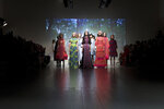 Models wear creations by designer Bora Aksu, during their Spring/Summer 2019 runway show at London Fashion Week in London, Friday, Sept. 14, 2018. (Photo by Grant Pollard/Invision/AP)