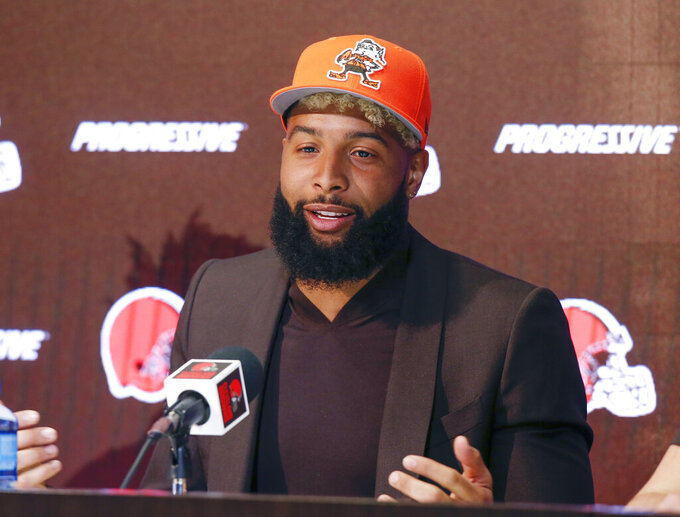 Browns coach not upset with WR Odell Beckham's camp absence