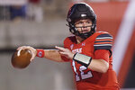 Utah quarterback Charlie Brewer throws a pass against Weber State during the first half of an NCAA college football game Thursday, Sept. 2, 2021, in Salt Lake City. (AP Photo/Rick Bowmer)