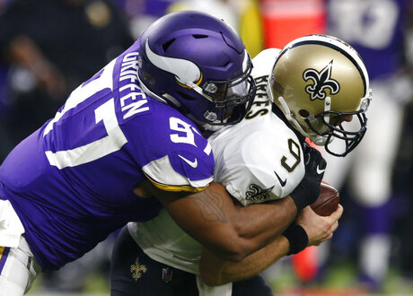 Everson Griffen, Drew Brees