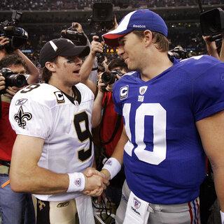 Drew Brees, Eli Manning