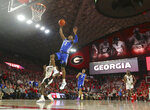 Kentucky guard Ashton Hagans (2) scores against Georgia during the second half of an NCAA college basketball game Tuesday, Jan. 15, 2019, in Athens, Ga. Kentucky won 69-49. (AP Photo/John Bazemore)