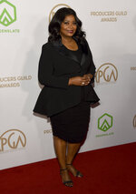 Octavia Spencer arrives at the 2020 Producers Guild Awards at the Hollywood Palladium on Saturday, Jan. 18, 2020, in Los Angeles, Calif. (AP Photo/Chris Pizzello)