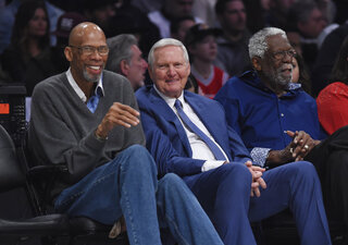 Kareem Abdul-Jabbar, Jerry West, Bill Russell