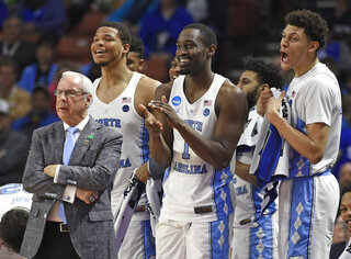 Roy Williams, Kennedy Meeks, Theo Pinson, Justin Jackson