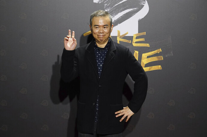 Taiwanese director Chen Yu-hsun arrives at the 57th Golden Horse Awards in Taipei, Taiwan, Saturday, Nov. 21, 2020. Chen is nominated for Best Director for the film My Missing Valentine