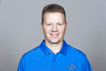 FILE - This 2019 file photo shows Darrell Bevell of the Detroit Lions NFL football team. Detroit fired special teams coordinator Brayden Coombs on Monday, Dec. 21, 2020 three plus weeks after parting ways with general manager Bob Quinn and coach Matt Patricia. The Lions announced their latest move a day after falling to 1-2 under interim coach Darrell Bevell and 5-9 overall this season. (AP Photo)