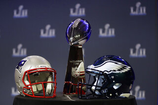 Eagles Patriots Super Bowl Football