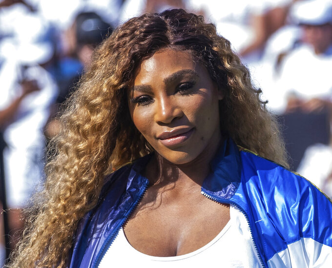 """FILE - In this Aug. 20, 2019, file photo, Serena Williams attends the Nike """"Queens of the Future"""" tennis event in New York. The Associated Press asked eight of the greatest current and former champions, including Williams, from seven different sports to find out what impressed them most about Tom Brady. (Photo by Charles Sykes/Invision/AP, File)"""