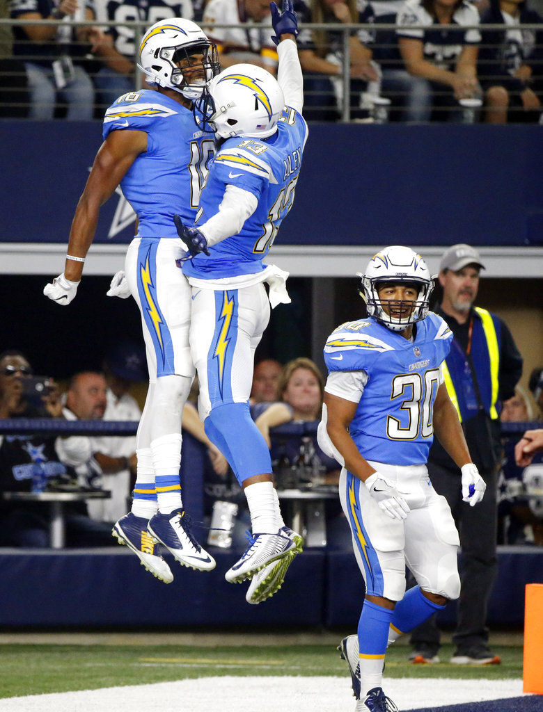 Tyrell Williams, Austin Ekeler, Keenan Allen