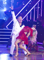This Sept. 30, 2019 photo released by ABC shows former White House press secretary, Sean Spicer, left, and Lindsay Arnold during the celebrity dance competition series