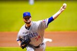 Chicago Cubs starting pitcher Jon Lester throws during the first inning of a baseball game against the Milwaukee Brewers Friday, Sept. 11, 2020, in Milwaukee. (AP Photo/Morry Gash)