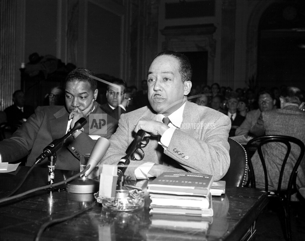 Associated Press Domestic News Dist. of Columbia United States MCCARTHYISM LANGSTON HUGHES