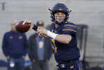 California quarterback Chase Garbers passes against Colorado during the first half of an NCAA college football game in Berkeley, Calif., Saturday, Nov. 24, 2018. (AP Photo/Jeff Chiu)