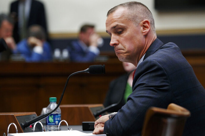 Corey Lewandowski, former campaign manager for President Donald Trump, testifies to the House Judiciary Committee, Tuesday, Sept. 17, 2019, on Capitol Hill in Washington. (AP Photo/Jacquelyn Martin)