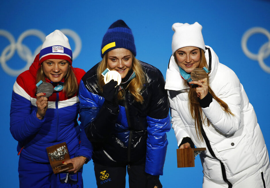 Pyeongchang Olympics Medals Ceremony Cross Country Women