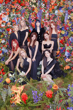 "This August 2020, photo released by JYP Entertainment shows a South Korean girl group TWICE in Seoul, South Korea. TWICE, a popular K-pop group known for its catchy lyrics and colorful aesthetics, released its second full album, a collection that invites listeners into the band's more daring side. ""Eyes Wide Open,"" released Monday, Oct. 26, 2020, has 13 songs, including the lead single ""I Can't Stop Me."