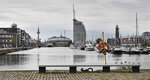 The yacht harbor in Bremerhaven, Germany, is pictured on Thursday, May 16, 2019. The city became a battleground for EU's fragile political center, support for Germany's Social Democrats has ebbed dramatically in recent years, but nowhere is their fate more closely watched than in the tiny city-state of Bremen. (AP Photo/Martin Meissner)