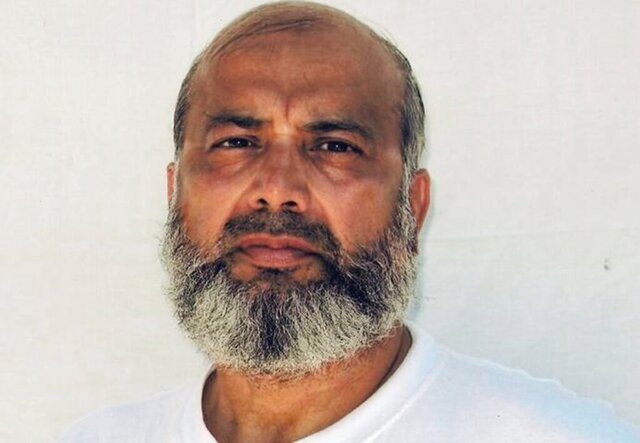 This undated image provided by the counsel to Saifullah Paracha shows Paracha at the Guantanamo Bay detention center. Paracha the oldest prisoner at the Guantanamo Bay detention center went to his latest review board hearing with a degree of hope, an emotion that has been scarce during his 16 years locked up without charge at the U.S. base in Cuba. (Counsel to Saifullah Paracha via AP)