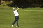 Ireland's Shane Lowry in action on day two of the PGA Championship at Wentworth Golf Club, England, Thursday Sept. 19, 2019. (Bradley Collyer/PA via AP)