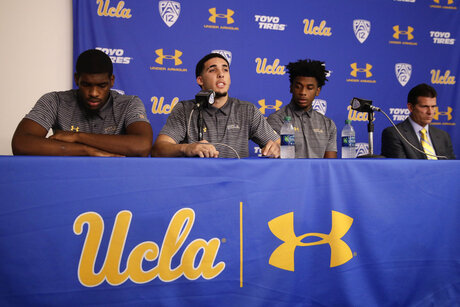 Cody Riley, LiAngelo Ball, Jalen Hill, Steve Alford
