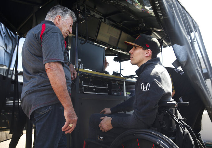 Wickens determined to get out of wheelchair and race again