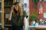 """This image released by Bleecker Street shows Sharon Horgan in a scene from """"Together."""" (Peter Mountain/Bleecker Street via AP)"""