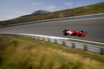 Ferrari driver Carlos Sainz of Spain steers his car during the first free practice ahead of Sunday's Formula One Dutch Grand Prix at the Zandvoort racetrack, Netherlands, Friday, Sept. 3, 2021. (AP Photo/Francisco Seco)