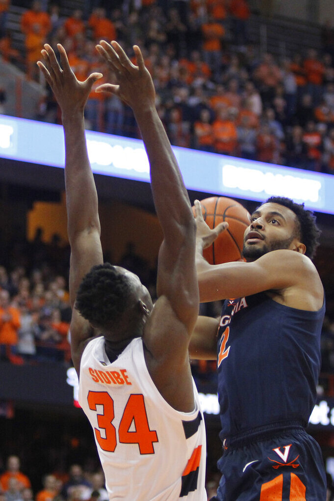 No. 11 Virginia uses stellar defense to beat Syracuse 48-34