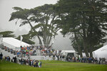 FILE - In this Friday, May 1, 2015 file photo, Jordan Spieth hits from the first tee of TPC Harding Park during round-robin play against Lee Westwood of England at the Match Play Championship in San Francisco.The PGA Championship starts Aug. 6 at Harding Park, delayed three months by the coronavirus pandemic. (AP Photo/Eric Risberg, File)