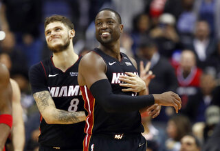 Tyler Johnson, Dwyane Wade