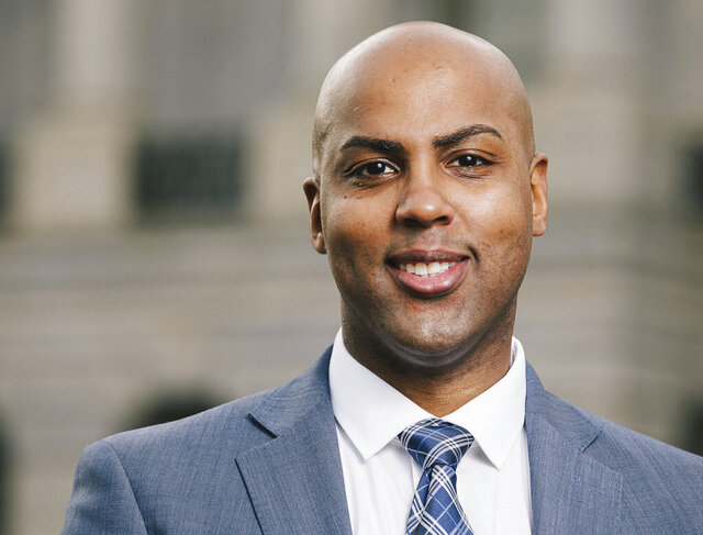 This 2019 photo provided by Will Cunningham for Congress, shows candidate Will Cunningham in Washington, D.C. Cunningham is running in the New Jersey Primary election on Tuesday, July 7, 2020, seeking  the Democratic nomination for the House of Representatives in the state's 2nd Congressional District. (Jared Holt/Will Cunningham for Congress via AP)