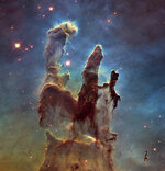 FILE - This file image made by the NASA/ESA Hubble Space Telescope shows the Eagle Nebula's