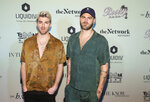 The Chainsmokers, left, Andrew Taggart and Alexander Pall attend the Bootsy On the Water at the Miami Seaquarium on Friday, Jan. 31,2020, in Miami, FL. (Photo by Donald Traill/Invision/AP)