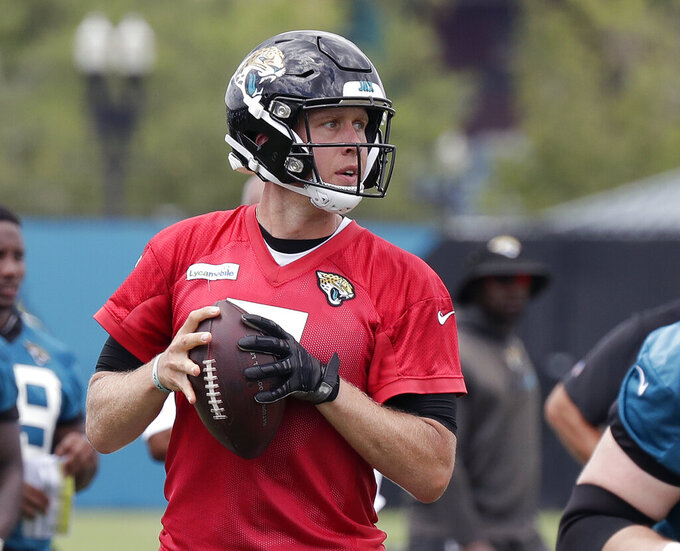 Jaguars QB Foles credits wife for his return to practice