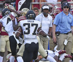 Florida State's head coach Willie Taggart, center, watches a play in the first quarter of an NCAA college football game with Wake Forest, Saturday, Oct. 20, 2018 in Tallahassee, Fla. Florida State won 38-17. (AP Photo/Steve Cannon)