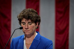 Democratic congressional candidate Amy McGrath speaks to supporters after conceding loss during a election night event in Richmond, Ky., Saturday, Nov. 6, 2018. (AP Photo/Bryan Woolston)