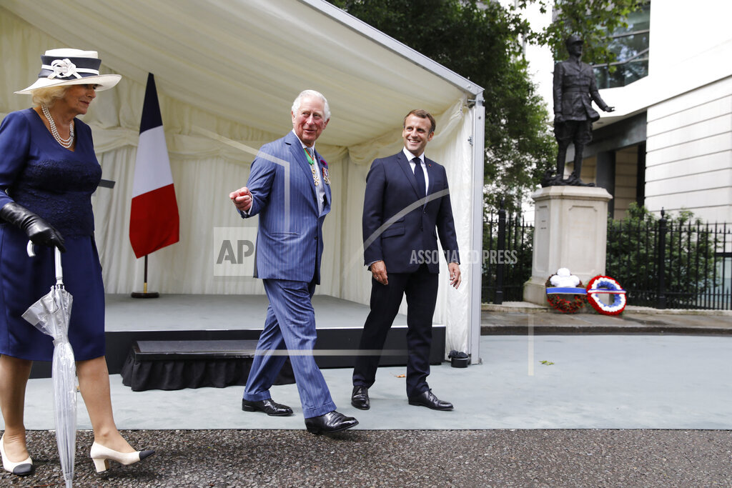 President Macron At Wreath Laying Ceremony - London